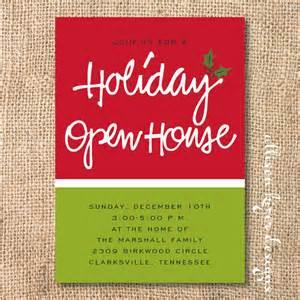 open house printable invitation