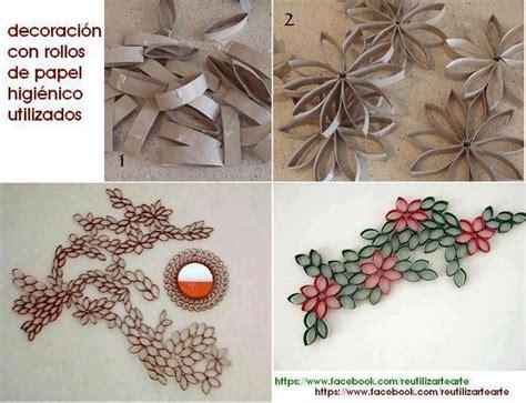 como hacer decoraciones con papel 17 best images about reciclar rollos de papel de ba 241 o on