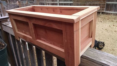 deck rail planter boxes eastern cedar deck rail planter box for by creativeandrecycle