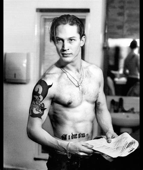 tom hardy tribal tattoo tom hardy black and white photo with his grand tattoos