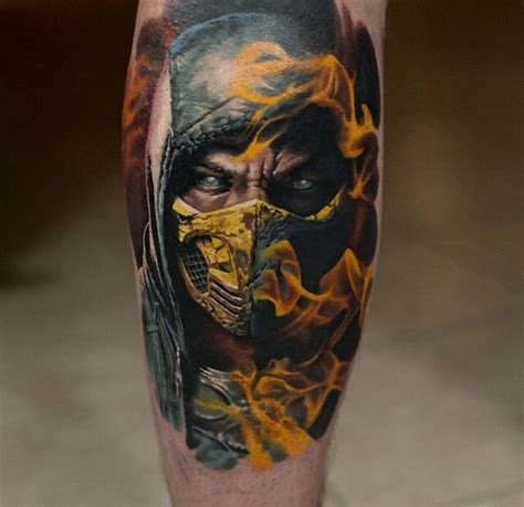 mortal kombat tattoos 20 deadly mk designs