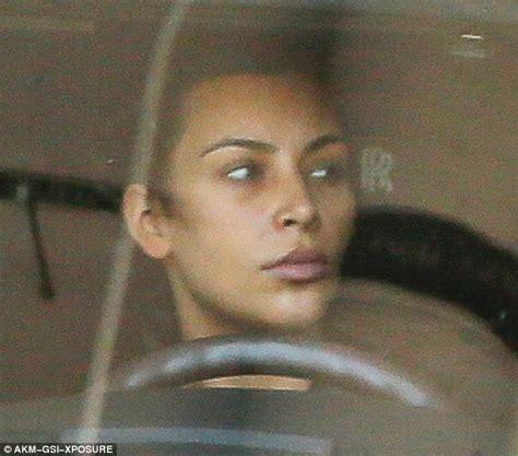 kim kardashian glam makeup kim kardashian is seen leaving gym without makeup after
