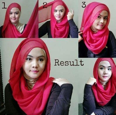 Jilbab Segi Empat Dua Lapis Cara Pakai Jilbab Dua Warna Untuk Pesta Kumpulan Contoh
