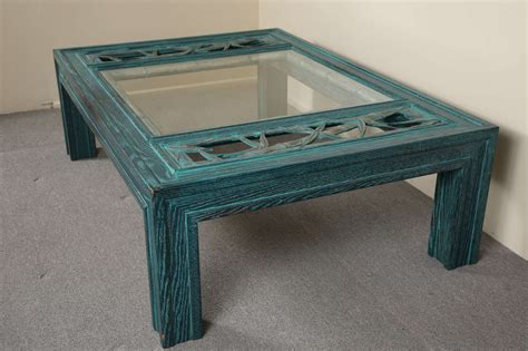 Beautiful Glass Coffee Tables Beautiful Oak Coffee Table With Bamboo Carving And Glass Insert By Mont At 1stdibs