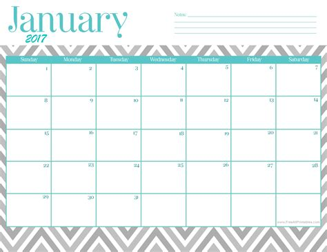 printable calendar template january 2017 printable calendar printable january