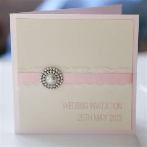 shabby chic baby pink wedding invitation vintage wedding