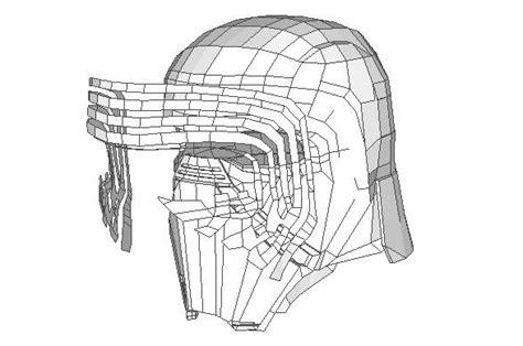 kylo ren helmet coloring page star wars life size kylo ren helmet ver 3 free