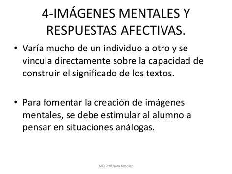 Imágenes Mentales Y Respuestas Afectivas | el texto explicativo como instrumento para la ense 241 anza