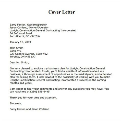 business cover letter goodly business cover letter exles letter format writing