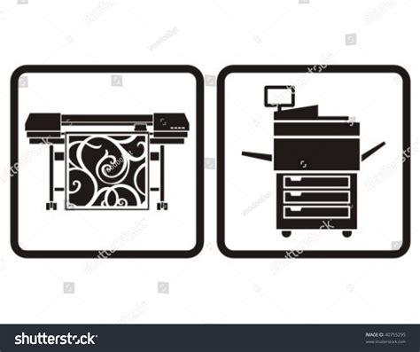 eps format for printing large format printer multifunction printer vector stock