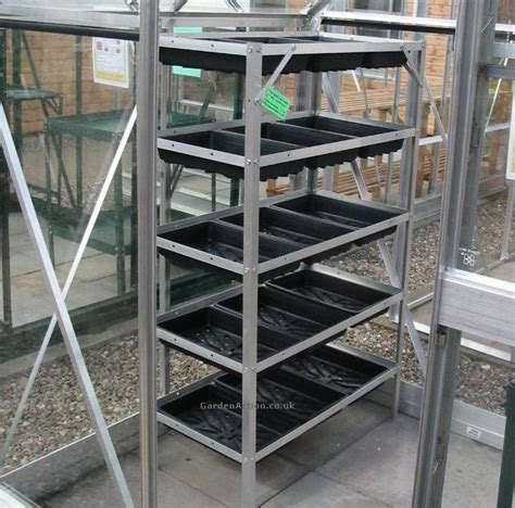 aluminum greenhouse benches gardenaction co uk select greenhouse staging