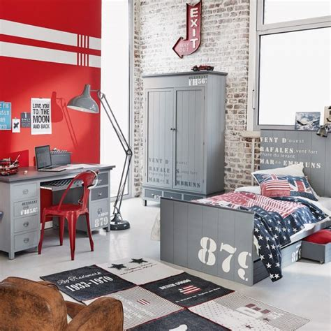 Formidable Decoration Chambre Garcon Ado #3: xidee-deco-chambre-ado-garcon-rouge-gris-e1464794058730-1.jpg.pagespeed.ic.huNDxHoW6v.jpg
