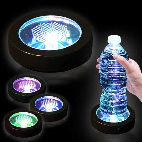 led light up multi color drink coaster kamrock lights