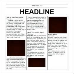 Docs Newspaper Templates newspaper front page template docs cover letter