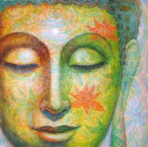 painting for lotus meditation buddha painting by sue halstenberg