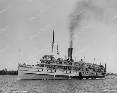 model boats toronto toronto steamer 1901 vintage 8x10 reprint of old photo