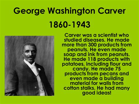 George Washington Carver Biography Inventions | george washington carver quotes about science quotesgram