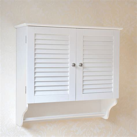 shutter door medicine cabinet white wooden mounted bathroom storage wall cabinet 2