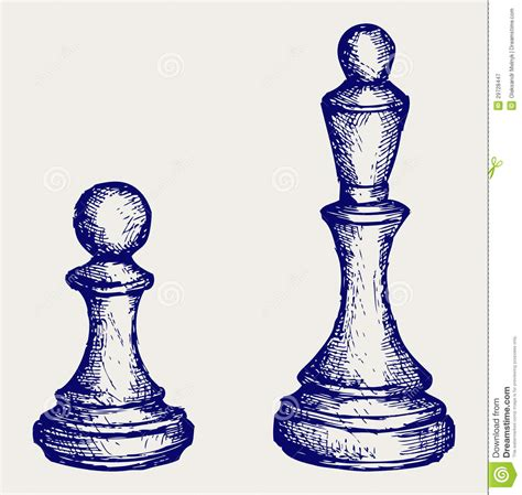 doodle chess chess figures doodle style royalty free stock photography