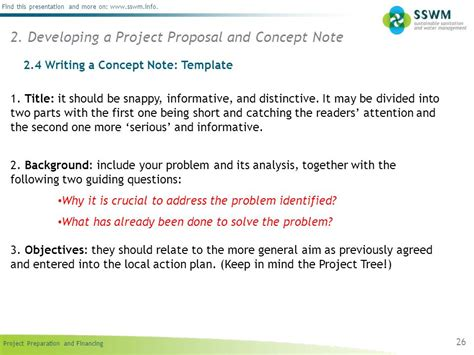 concept note template for project professional sles