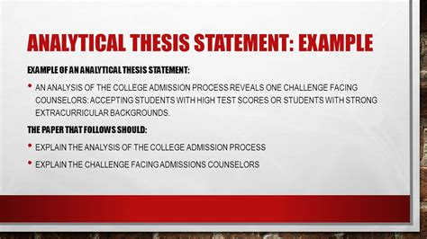 Analytical Essay Thesis Exle by Thesis Statements How To Then Do Ppt