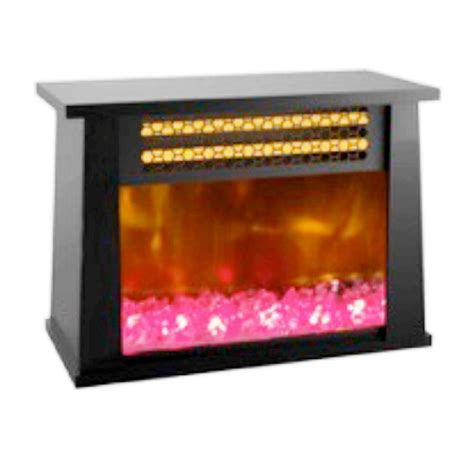 fireplace display lifesmart table top 750 watt infrared bulb heater with