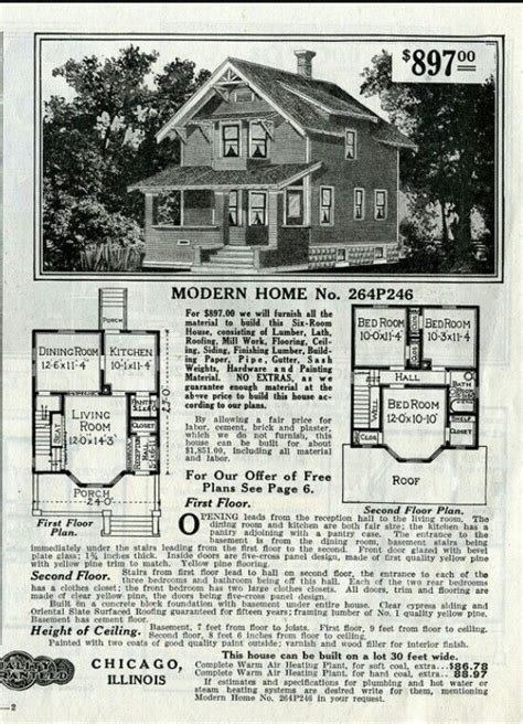 sears winona 1916 264p205 264p205a 2010 1917 c2010 c205 1000 images about 2 gabled roof 1 1 2 to 2 1 2 stories