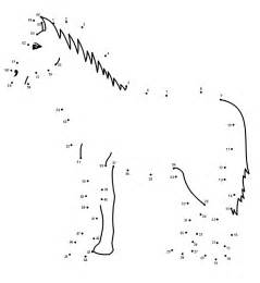 Printable dot to dot horse josh fourth grade pinterest horses