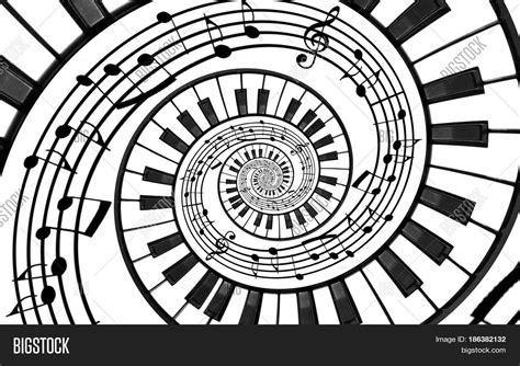 Patterns Of The Black And White Keys | piano keyboard printed music image photo bigstock