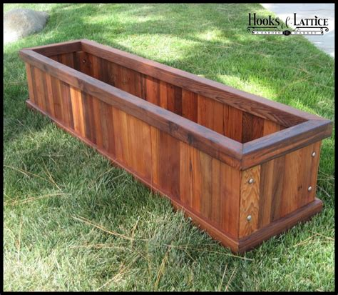 Large Wood Planter by Redwood Planters Large Wooden Planters Planters Unlimited