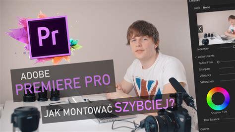 adobe premiere pro jak dodac napisy premiere pro cc jak szybciej i łatwiej montować vlog