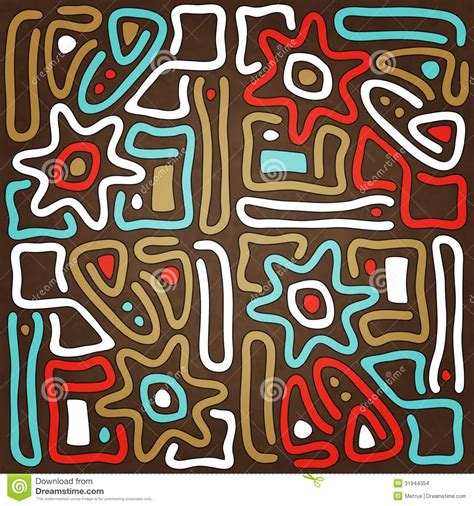 tribal pattern facts maya sun stock images image 31944354