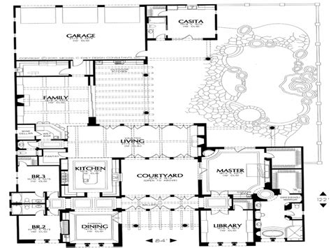 House Plan With Courtyard Small Style House Plans House Plans With Courtyard Courtyard House