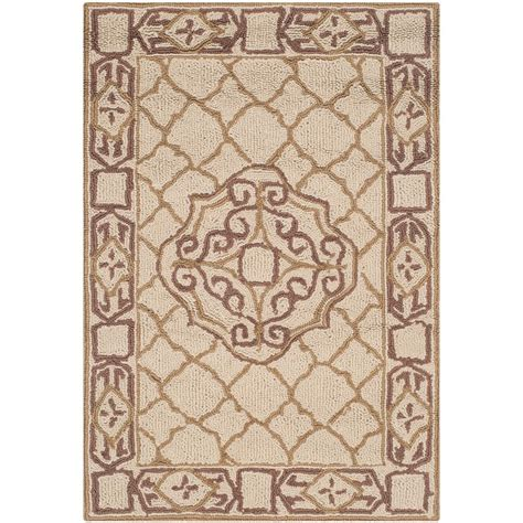 3 foot area rugs safavieh easy care ivory gold 2 ft x 3 ft area rug ezc729c 2 the home depot