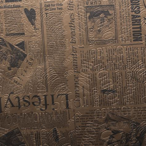 Vintage Vinyl Upholstery by Designer Vintage Retro Newspaper Print Faux Leather Vinyl