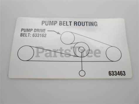exmark lazer z belt diagram exmark part 1 633463 decal belt routing partstree