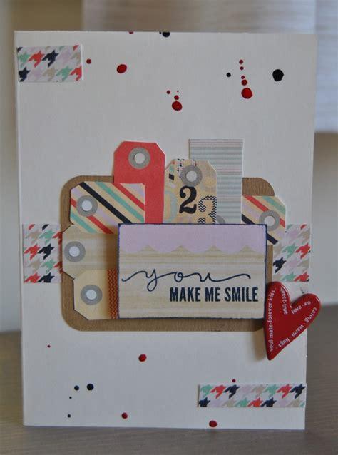 you make me smile card you make me smile scrapbook card