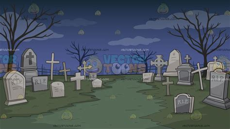 graveyard background a graveyard background clipart by vector