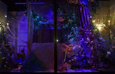sleeping beauty bedroom designer disney christmas window displays unveiled at