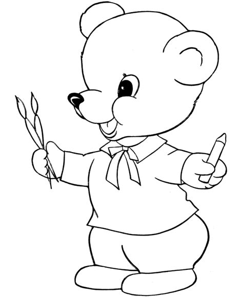 baby bear coloring pages image search results