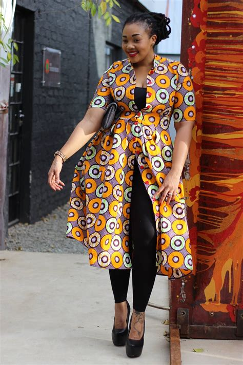 plus size african american ladie with one inch hairstyle dkk african fashion ankara kitenge african women