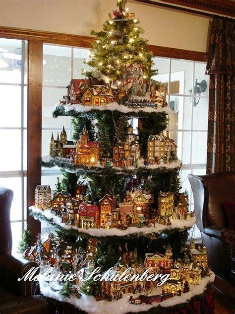 shelves in shape of christmas tree to display christmas