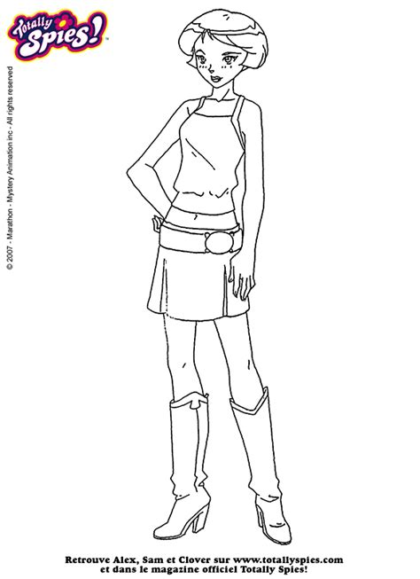 Coloring Page Alex Totally Spies Coloring Me Totally Spies Colouring Pages