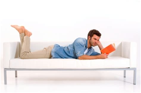 man on sofa will reading fiction turn men into sissies wordserve