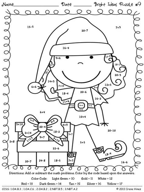holiday coloring math pages christmas math coloring worksheets christmas coloring
