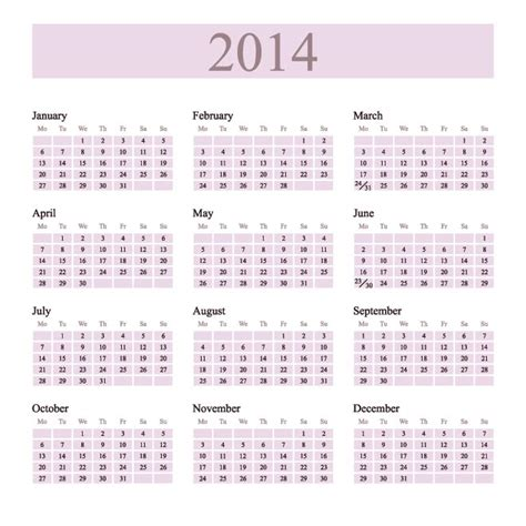 2014 calendar template templates free printable