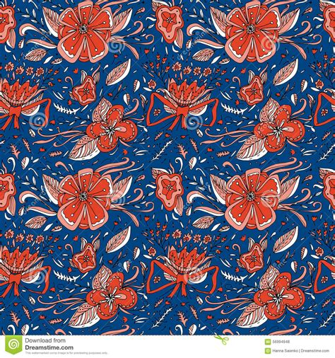 elegance floral seamless pattern flowers and leaves can