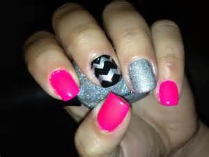 pink glitter chevron nail art design youtube