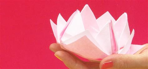 How To Make A Paper Lotus - how to make an origami lotus with washi paper 171 origami