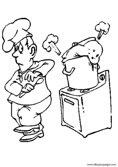 dibujo-de-cocinero-004 | Dibujos y juegos, para pintar y